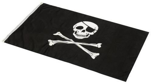 Pirátská vlajka 90 x 150 cm
